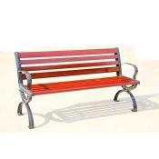 户外木条休闲椅FZ04