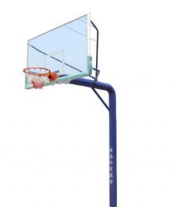 地埋圆管篮球架1012配钢化板